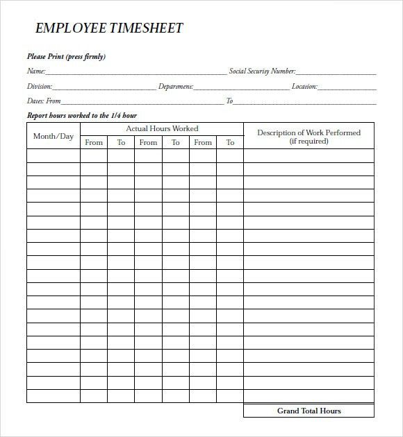 Employee Payroll Timesheet and Slip Template Example : Helloalive