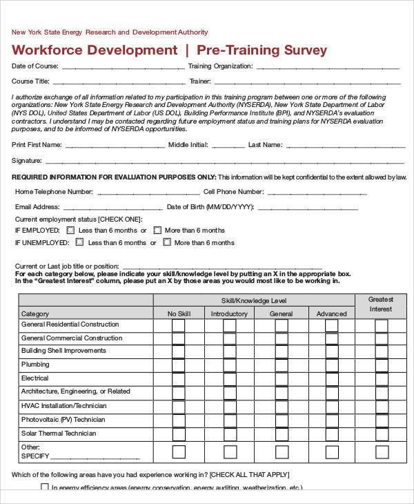 Survey Form in PDF