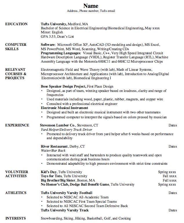 Barback Resume - Resume Example