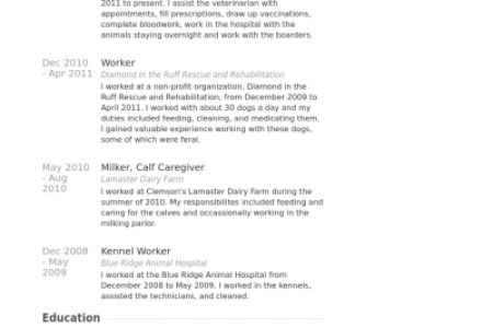 veterinary assistant resume examples veterinary assistant resume