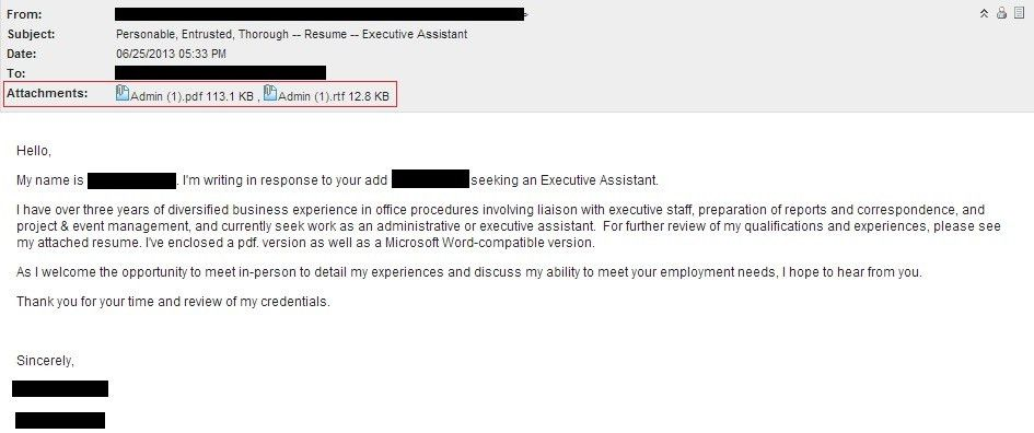 How Send Resume Through Email Sample] What Say The Email When ...