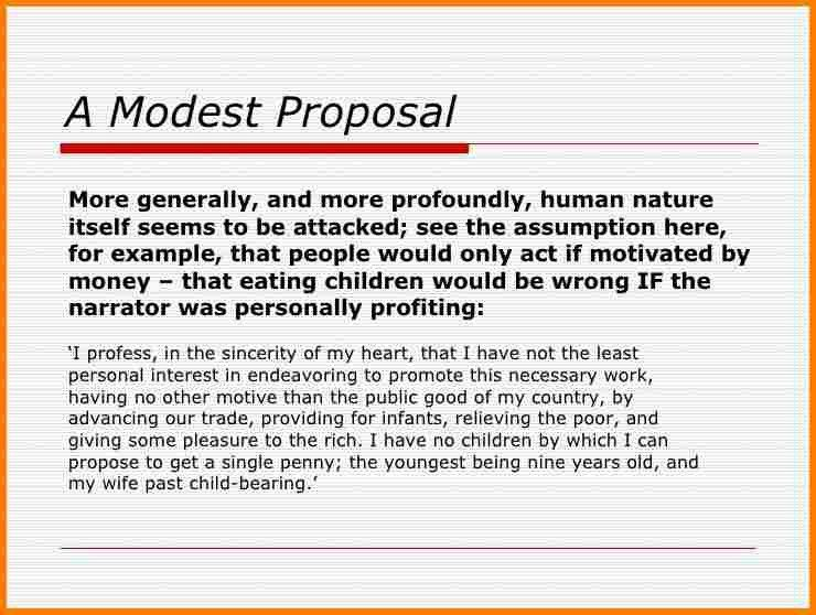 7+ examples of satire in a modest proposal by jonathan swift ...