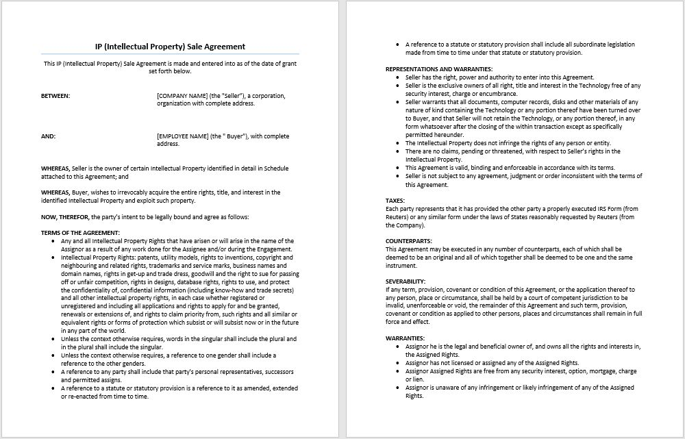 Assignment of Contributor Rights Agreement Template | Microsoft ...