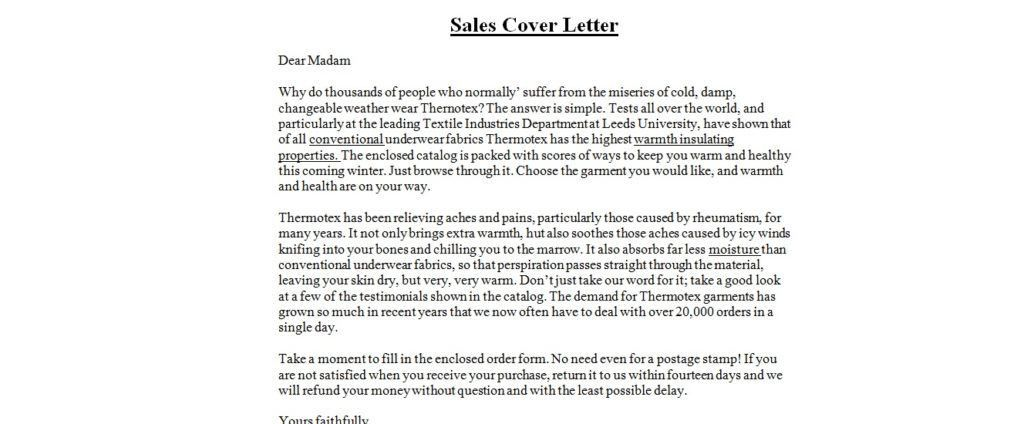 Business Letter Samples Sales Cover Letter with Sales Cover Letter ...