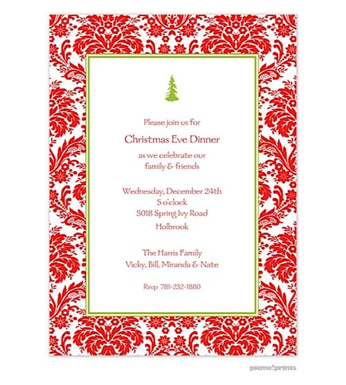 Holiday Dinner Party Invitations - iidaemilia.Com