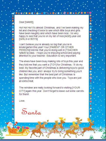 Free Printable Santa Letters at Christmas Letter Tips.com |