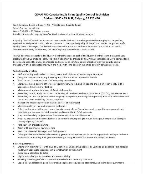 Controls Technician Job Description | haadyaooverbayresort.com