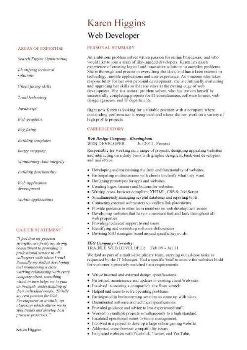 Cover Letter Web Designer