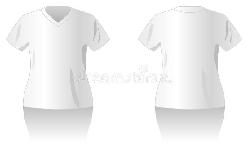 White T-shirt Design Template Royalty Free Stock Photography ...