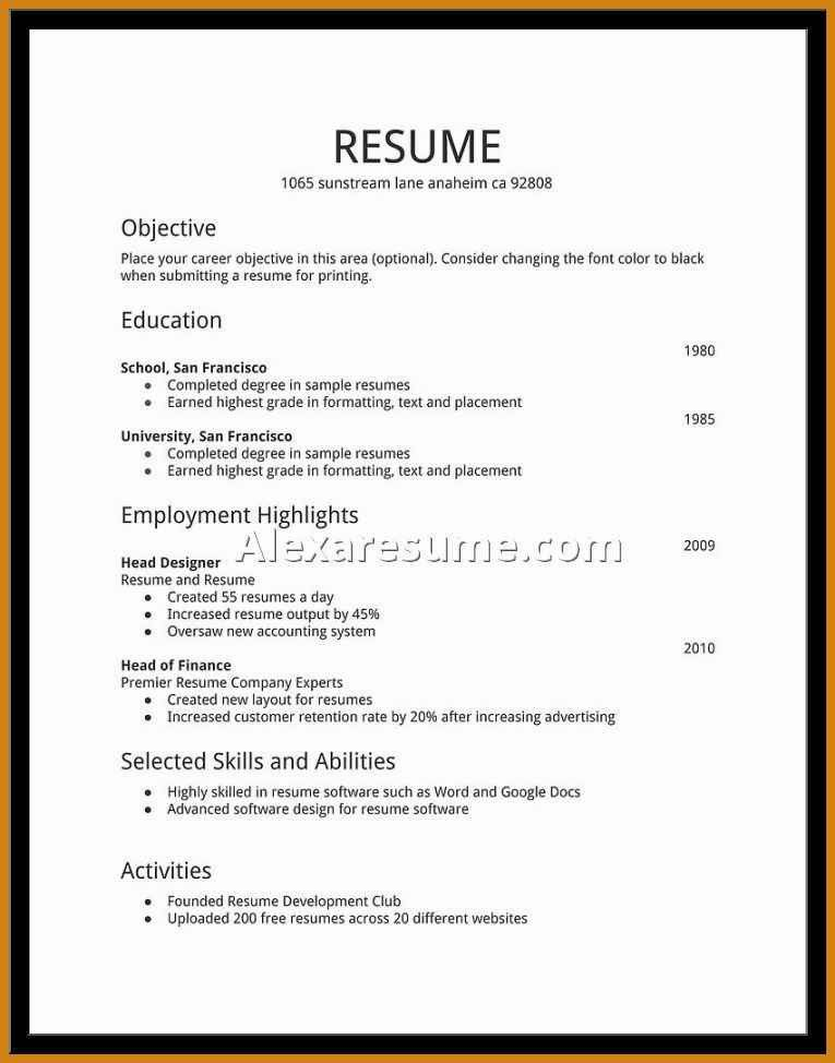 Resume Example For Teenager. Awesome Collection Of Sample Resume ...