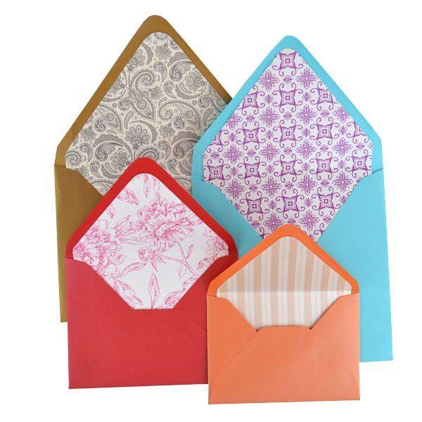 Lined Envelopes | Pattern Paper - Cards & Pockets