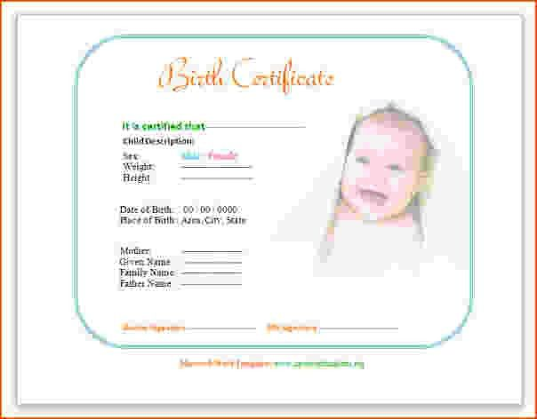 7+ birth certificate template for microsoft word - bookletemplate.org