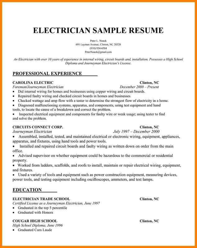 choose. electrician resume electrician mentor. electrical ...