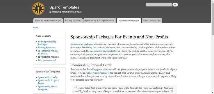 sponsorship levels template
