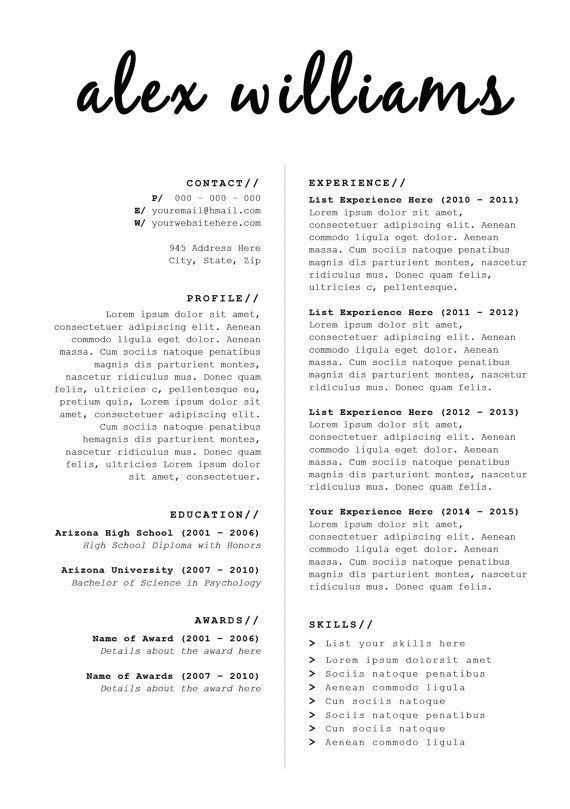 22 best CV images on Pinterest | Resume templates, Cv design and ...