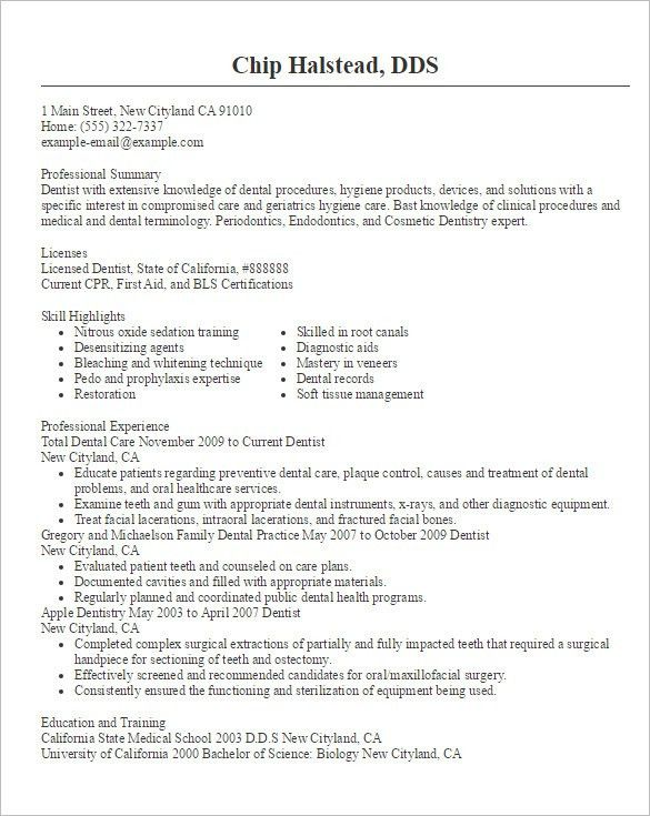 dentist resume template dental assistant resume sample tips