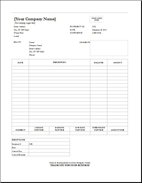 4 Customizable Invoice Templates for Excel | Word & Excel Templates