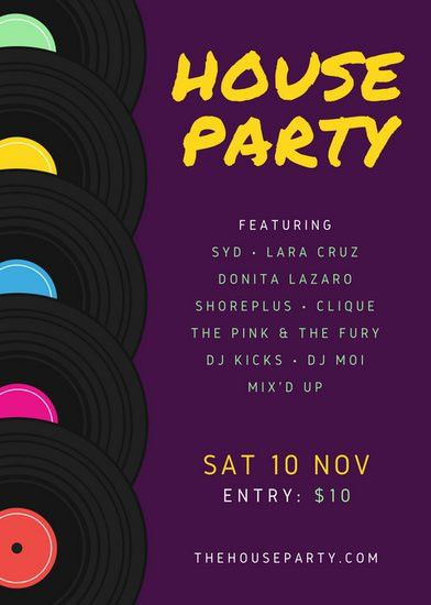 Party Flyer Templates - Canva
