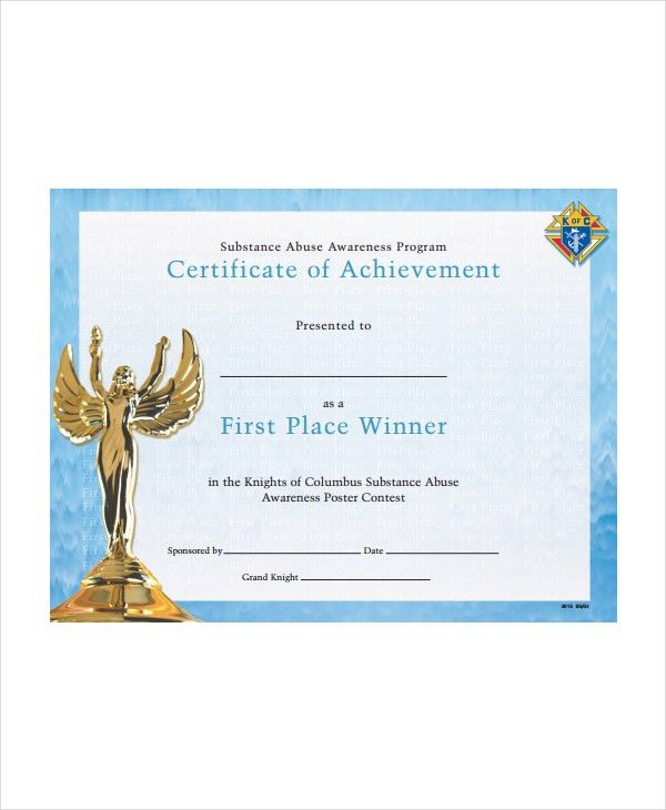Winner Certificate Template - 9+ Free PDF Document Downloads ...