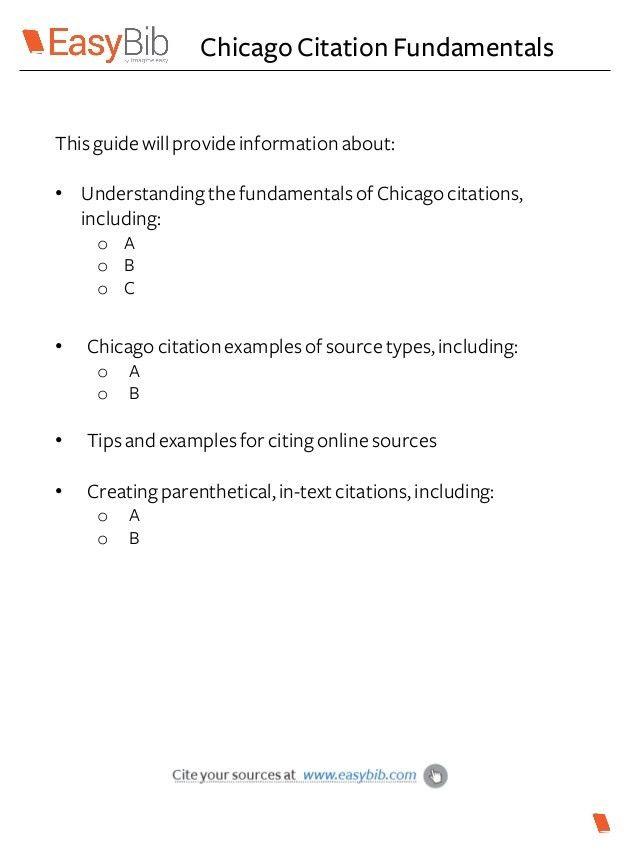 Chicago citation basics pt 1 & 2
