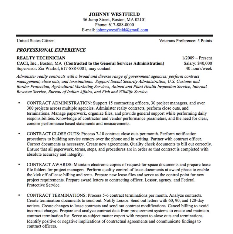 Plush Design Federal Resume Writing 14 Federal Resume Sample And ...