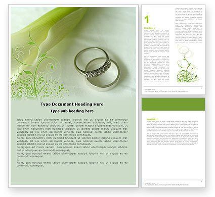 Engagement Word Template 05619 | PoweredTemplate.com