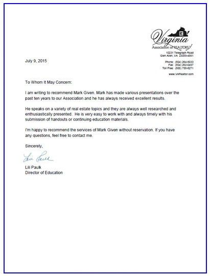 Recommendation Letter | schedule template free