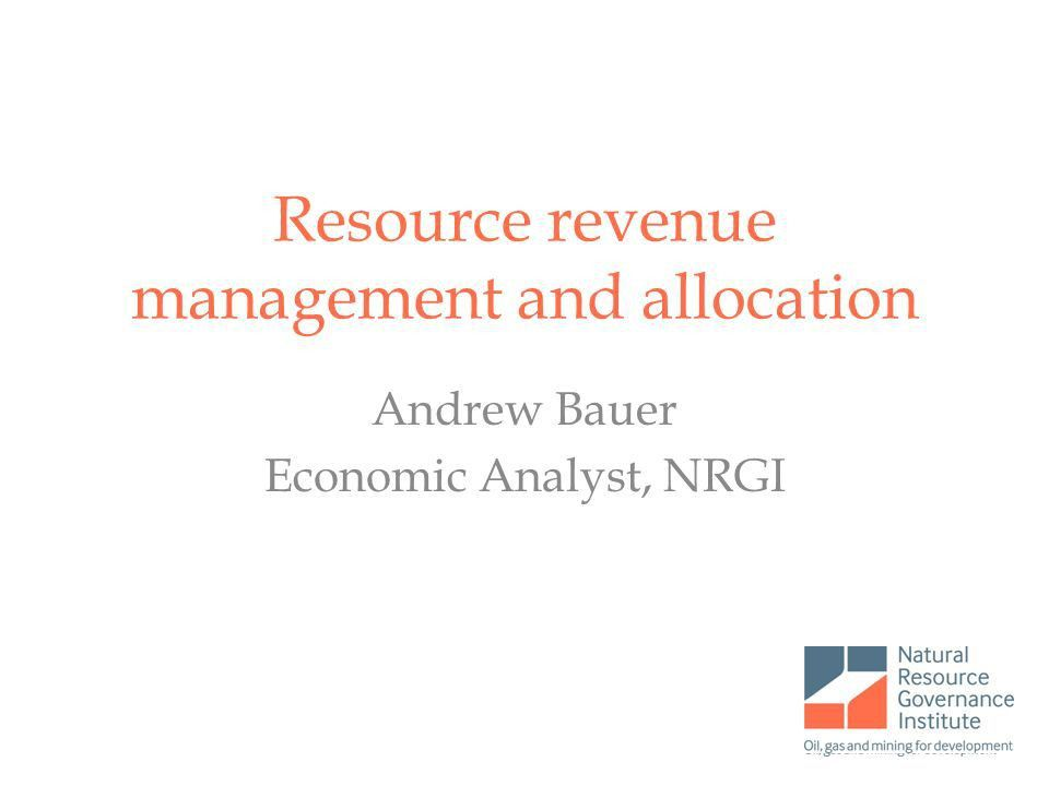 Resource revenue management and allocation - ppt video online download