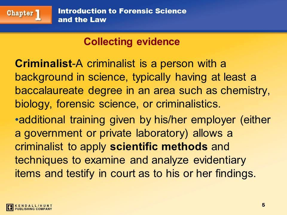 1 Collecting and Preserving Evidence Maintaining the integrity of ...
