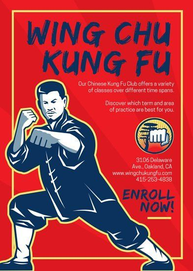 Kung Fu Recruitment Flyer - Templates by Canva