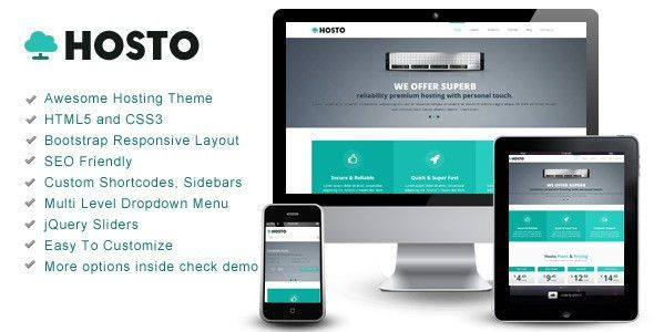 Hosto – Bootstrap Responsive HTML Template by owltemplates ...