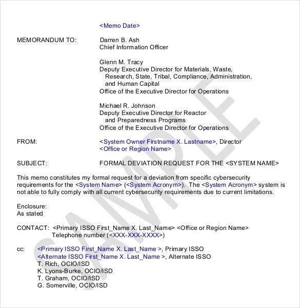 Executive Memo Template. 6+ Professional Memo   Reimbursement ...