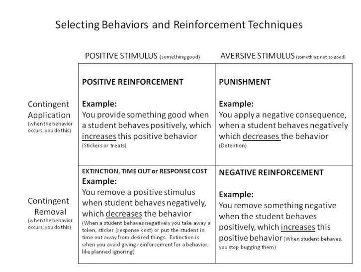 Positive and Negative Reinforcement Examples | Like Success