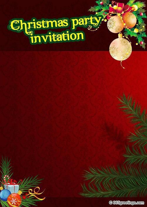 Christmas Party Invitations Templates – gangcraft.net