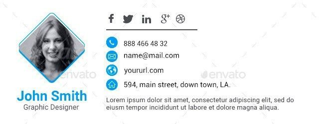Html Email Signature Template. create professional html email ...
