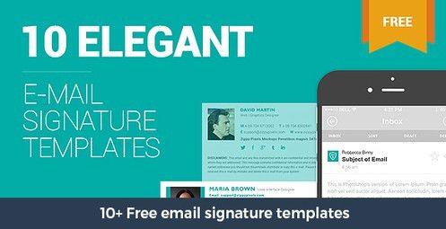10+ Free email signature templates | Designrazzi | Newest ...