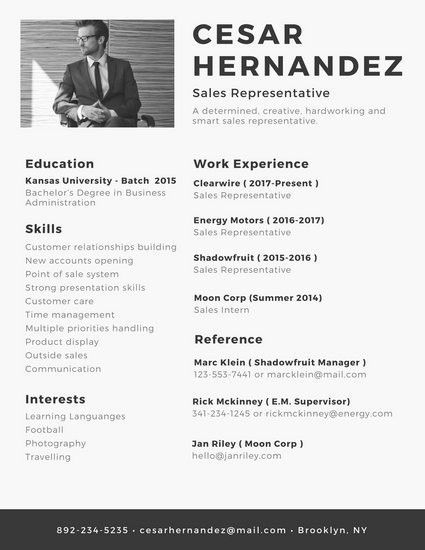 Monochromatic Minimalist Modern Resume - Templates by Canva