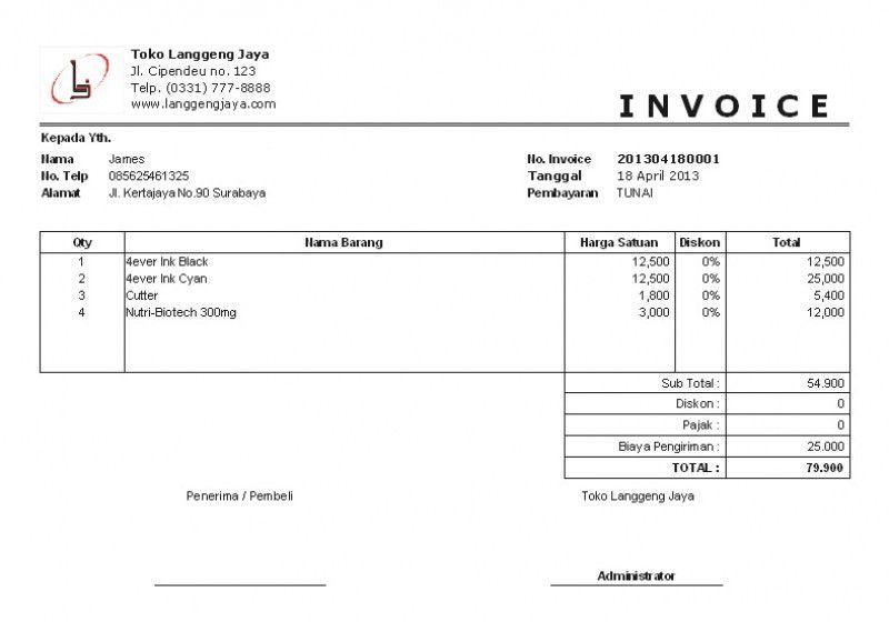 Download Invoice Template Bahasa Indonesia | rabitah.net