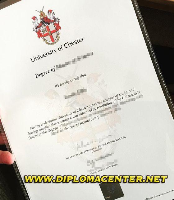 university of chester degree certificate, university of chester ...