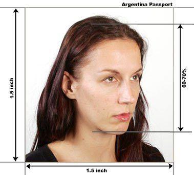 Argentina Passport / Visa Photo Requirements and Size