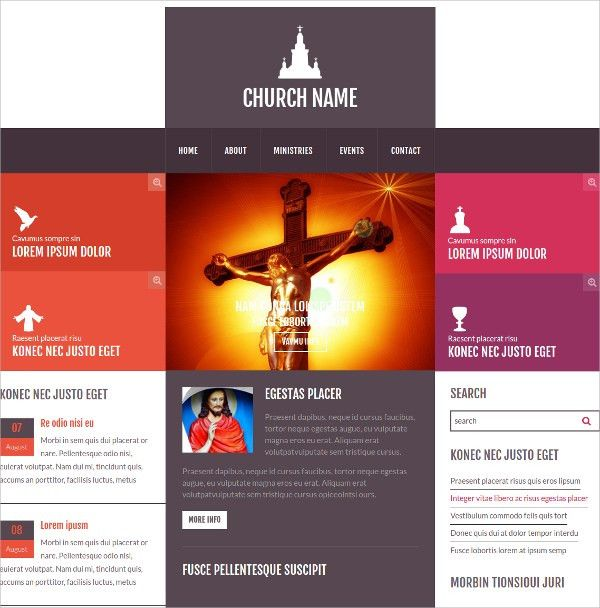 11+ Free Church Website Themes & Templates | Free & Premium Templates