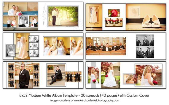 MODERN WHITE 8x12 Digital Wedding Album by KatieAnnDesigns, $50.00 ...
