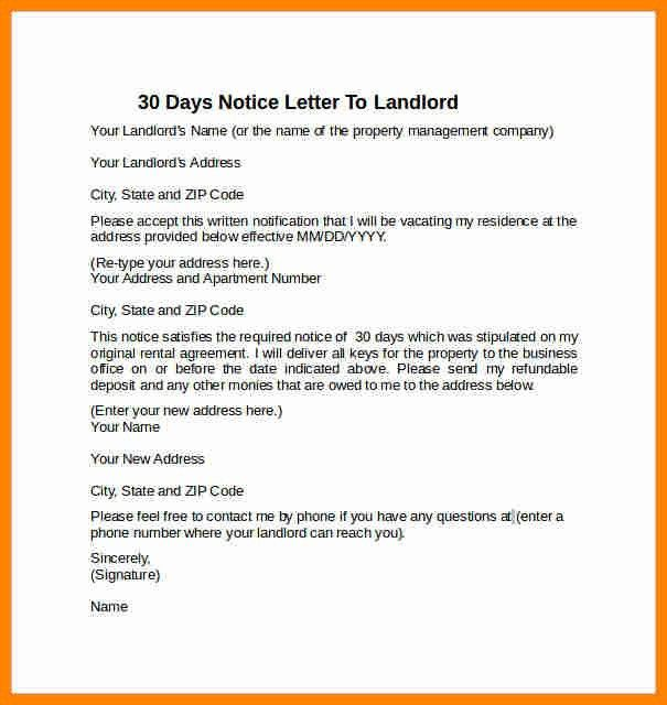 4+ how to write 30 day notice to landlord | job resumed