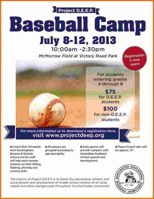 Baseball Flyer.Baseball Camp Flyer 791×1024.jpg   Scope Of Work ...