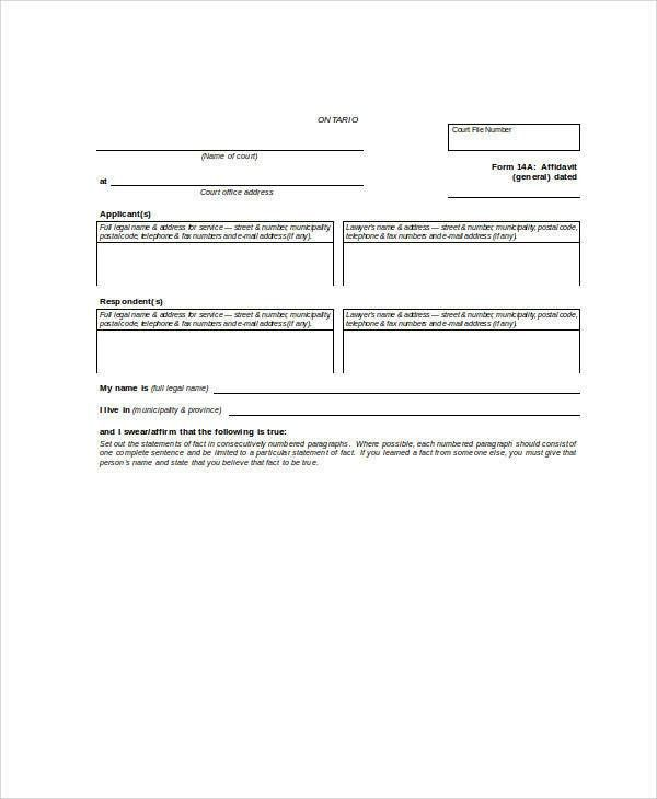 26+ Sample Statement Forms in Doc