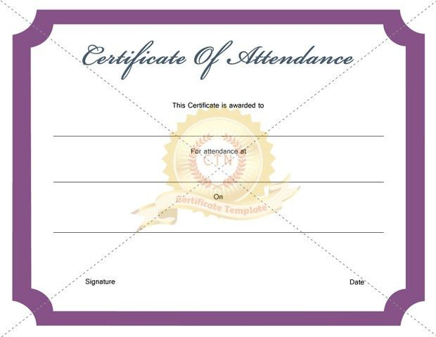 Certificate of Attendance Archives - Certificate Template