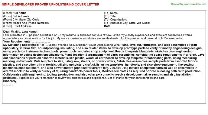Java Developer Cover Letters
