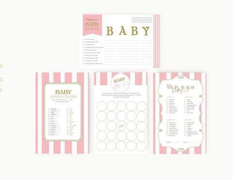 Baby shower Invitation Editable MS Word Template | Vintage Bunny ...
