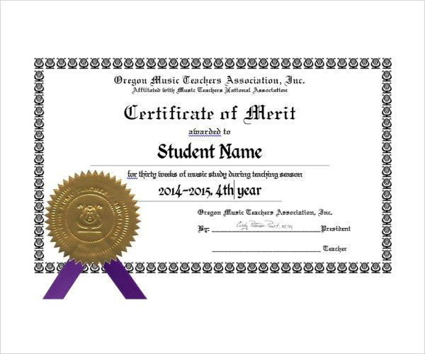 Sample Merit Certificate Template - 10+ Free Documents in PDF
