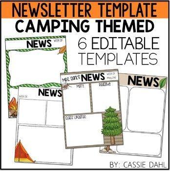 Camping Classroom Newsletter by Cassie Dahl | Teachers Pay Teachers